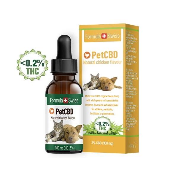 Ulei CBD cu aroma de pui pt Animale, picaturi 3% (300 mg)